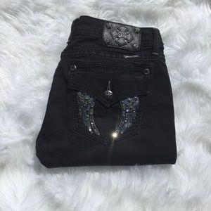 Miss Me Flap Bling Pocket Black Jegging Jeans